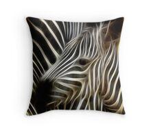 Zebra Fractal Art Throw Pillow