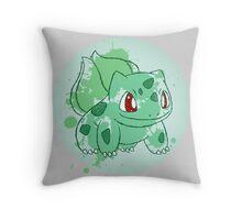 Bulbasaur Splatter Throw Pillow