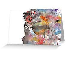 Rainbow Princess Mononoke Greeting Card