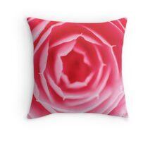 Pink Rose Macro Throw Pillow