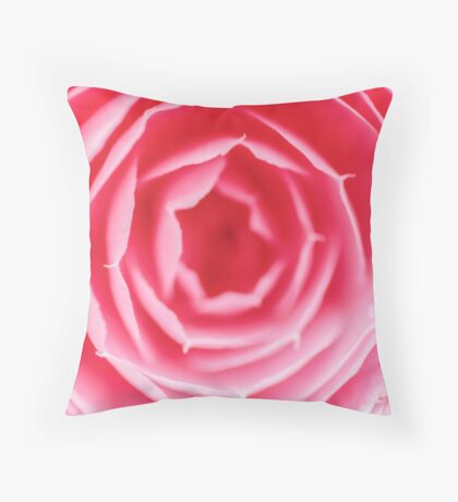 Pink Rose Macro Throw Pillow