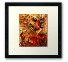 Abstract Abstractions ~ Primitive Fight. Framed Print