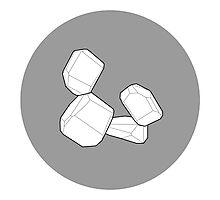 Stacked Blocks: White Photographic Print