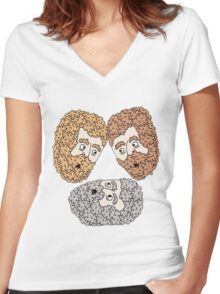 3 friends Women's Fitted V-Neck T-Shirt