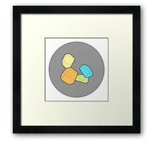 Stacked Blocks: Color Framed Print