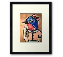 Blue Bird Babe Framed Print
