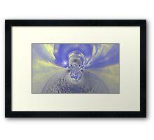 Blue Psychedelic Design Framed Print