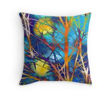 Psychedelic Branches Throw Pillow