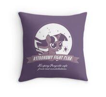 Twilight Sparkle's Astronomy Fight Club Throw Pillow