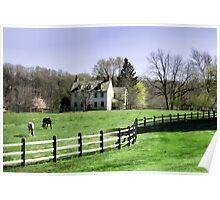 Chester County, Pennsylvania Horse Farm Poster
