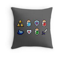 Zelda Items Throw Pillow