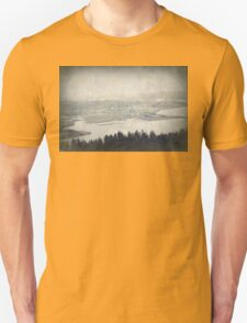 view from the Astoria Column Youngs Bay T-Shirt