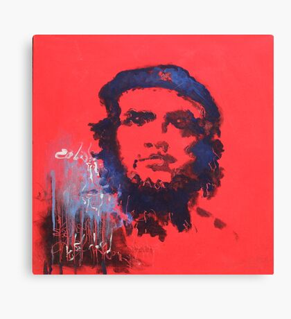 Abstract Che Guevara Painting Canvas Print