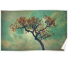 Vintage Rusty Tree Poster