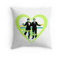 Justin and Jimmy Throw Pillow