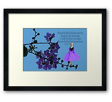 BECAUSE HE HATH KNOWN MY NAME BIBLICAL-SCRIPTURE Framed Print