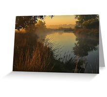 Morning River Greeting Card