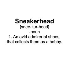 Sneakerhead Definition Shirt Photographic Print