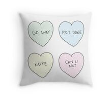 Sassy Hearts Throw Pillow
