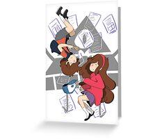 Dipper And Mabel Pines Greeting Card