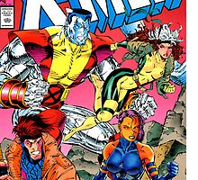 X-Men Comic Cover with Colossus, Rogue, and Gambit by zzaannsebar