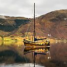 Old Sail Boat with Reflections by jacqi
