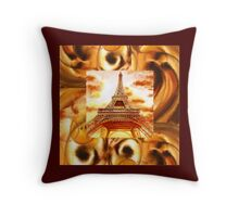 Eiffel Tower - French Design - Throw Pillow Throw Pillow