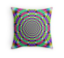 Psychedelic Rings Throw Pillow