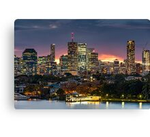 Brisbane from Bulimba Canvas Print
