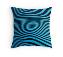 Blue and Black Stripes Throw Pillow