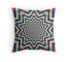 Optically Challenging Star Throw Pillow