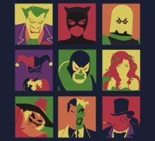 Villain Bat PopArt Kids Clothes