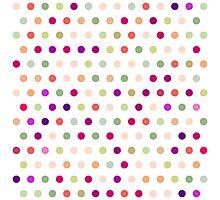 Polka Dots - Red & Green Photographic Print