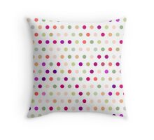 Polka Dots - Red & Green Throw Pillow