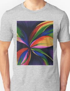 Paradise Colorful Rainbow Abstract Flower Art T-Shirt