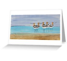 Chance Encounter at the Beach Greeting Card