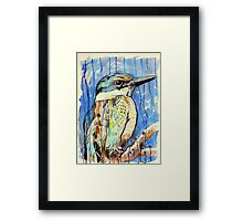 Sacred Kingfisher Framed Print