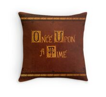 Once Upon A Time - Book Sticker Throw Pillow