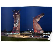 The Kelpies, Falkirk, Scotland Poster