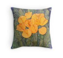 Yellow Tulips in Spring Throw Pillow