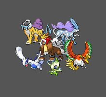 Second Gen Legendaries by Flaaffy