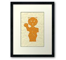 Paper Tiger (2) Framed Print