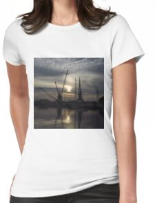 Cranes 1:1 Version, Ipwich Waterside Womens Fitted T-Shirt