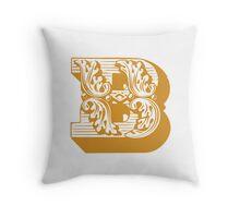 Alphabet Pillow - B Throw Pillow