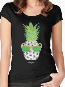 Cool Fruits - Pineapple Women's Fitted Scoop T-Shirt