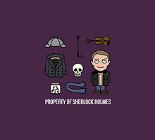 Property of Sherlock Holmes (pillow or bag) by redscharlach