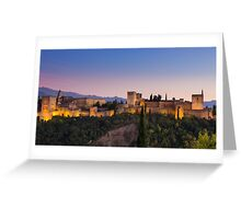 The Alhambra at Twilight Greeting Card