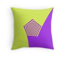 Lemon and Lilac Pentagon Spiral Throw Pillow