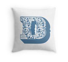 Alphabet Pillow - D Throw Pillow