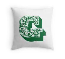 Alphabet Pillow - G Throw Pillow